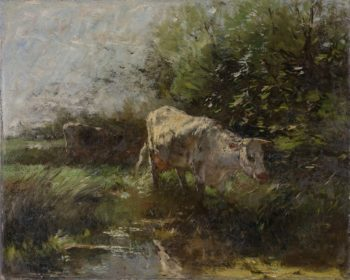 Meadow with cows. ca. 1880 - ca. 1910 | Willem Maris | oil painting