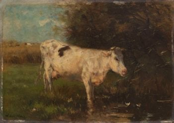 White Cow. ca. 1880 - ca. 1910 | Willem Maris | oil painting