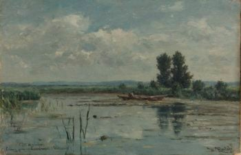 Lake near Loosdrecht. 1887 | Willem Roelofs (I) | oil painting