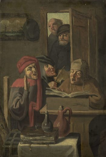 Music Rend company.. 1620 - 1750   Adriaen Brouwer   oil painting