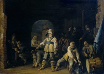 Wait local with soldiers. 1647 | Anthonie Palamedesz. | oil painting