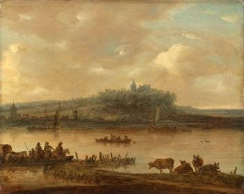 View of the Rhine and Elterberg. after 1645 | Jan van Goyen | oil painting