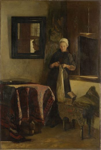 A sunny spot. 1850 - 1888 | Christoffel Bisschop | oil painting