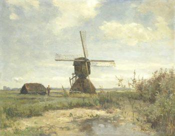 Sunny day: a mill to a watercourse. ca. 1860 - ca. 1903 | Paul Joseph Constantin Gabri?l | oil painting