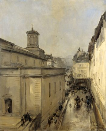 View of Notre Dame de Lorette and the Rue Fl?chier to Paris. ca. 1860 - ca. 1900 | Antoine Vollon | oil painting
