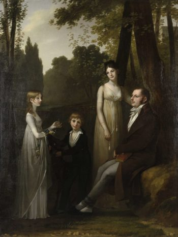 Portrait of Rutger Jan Schimmelpenninck and his Family. 1801 - 1802 | Pierre Prud'hon | oil painting