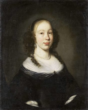 Portrait of a young woman. 1665 | Nicolaes Maes | oil painting
