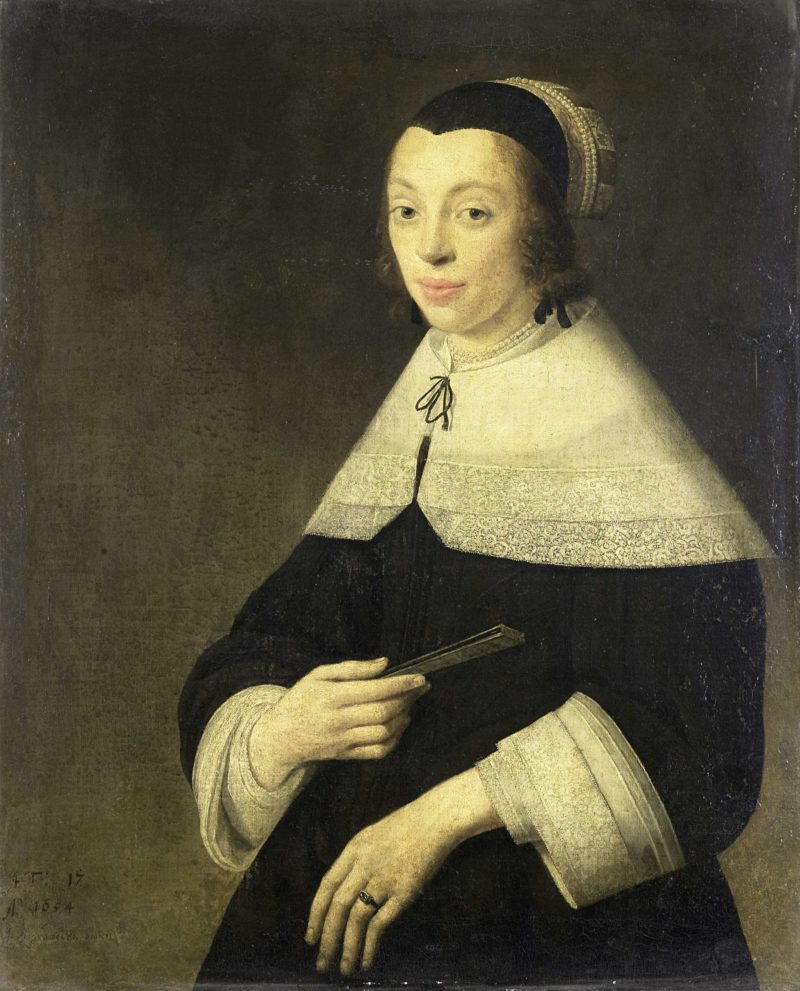 Portrait of a young woman. 1654 | Anthonie Palamedesz. | oil painting