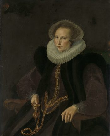 Griete Jacobsdr van Rhijn (1585-1652). Wife of Jacob Cornelisz Banjaert called van Neck. 1605 | Cornelis Ketel | oil painting