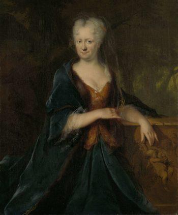 Christina Louise Trip (gest 1733). Wife of Gerrit Sichterman. 1725   Cornelis Troost   oil painting