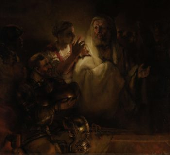 The Denial of St Peter. 1660 | Rembrandt Harmensz. van Rijn | oil painting