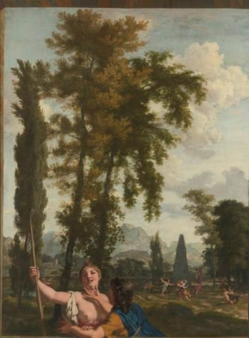 Italian landscape with shepherd couple. ca. 1687 | Gerard de Lairesse | oil painting