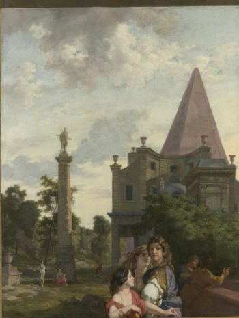 Italian landscape with three women in the foreground. ca. 1687 | Gerard de Lairesse | oil painting