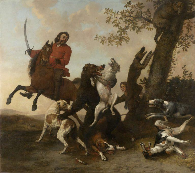 The bear hunt. 1649 | Paulus Potter | oil painting