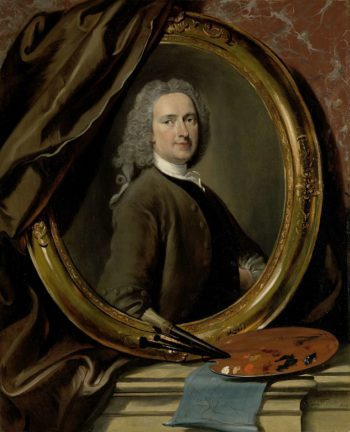 Self Portrait. 1739   Cornelis Troost   oil painting