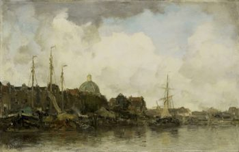 Cityscape with dome. ca. 1872 - ca. 1875 | Jacob Maris | oil painting