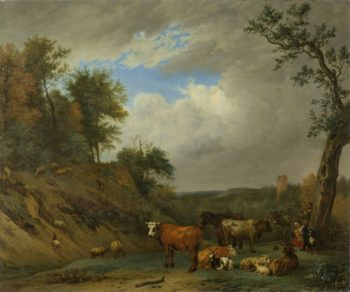 Shepherds with their cattle. 1651 | Paulus Potter | oil painting