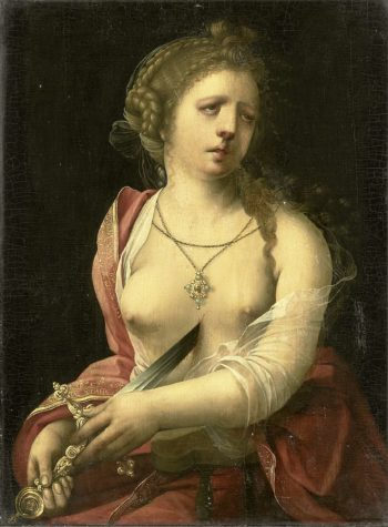 The Suicide of Lucretia. 1500 - 1525 | Meester met de Papegaai | oil painting