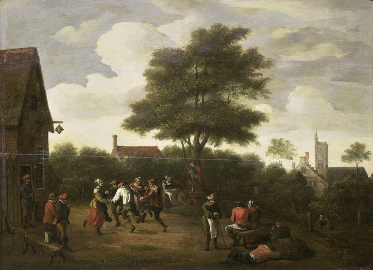 Dancing Peasants. ca. 1620 - ca. 1700 | David Teniers (II) | oil painting