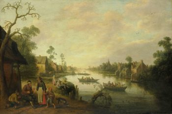 River View. 1650 | Joost Cornelisz. Droochsloot | oil painting