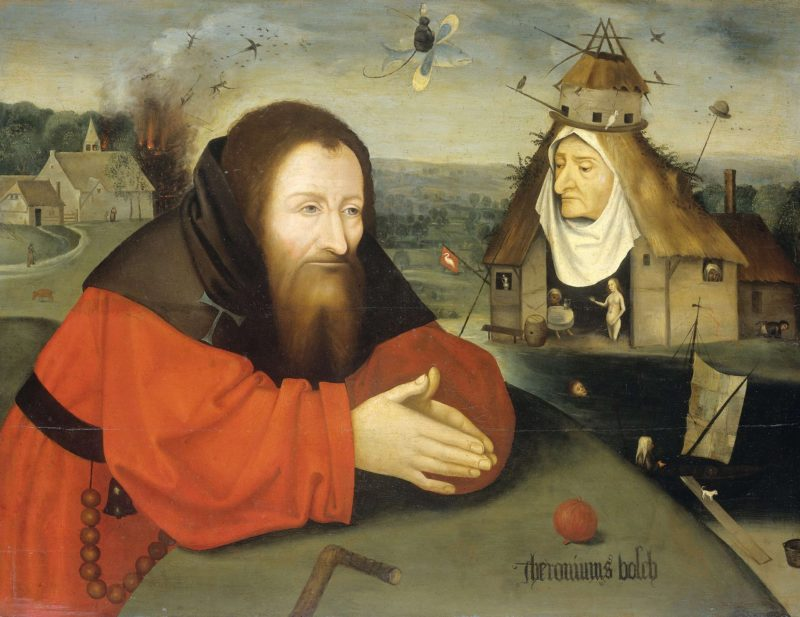 The Temptation of Saint Anthony the Hermit.. ca. 1550 - ca. 1600   Jheronimus Bosch   oil painting