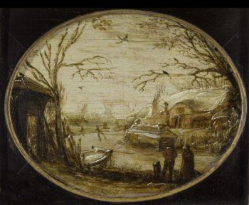 Winter Landscape. ca. 1620 - ca. 1630 | Jan van de Velde (II) | oil painting