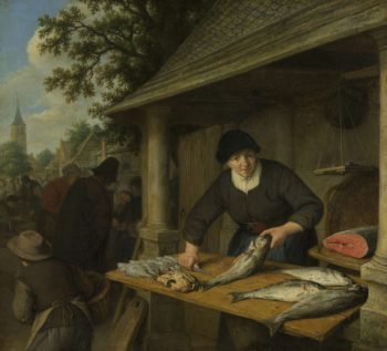 The fishwife. 1672 | Adriaen van Ostade | oil painting