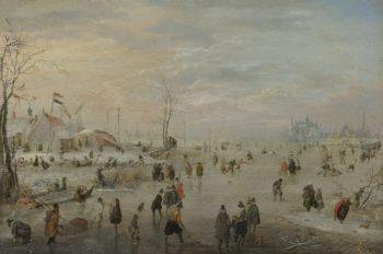 IJsvermaak. ca. 1615 - ca. 1620 | Hendrick Avercamp | oil painting