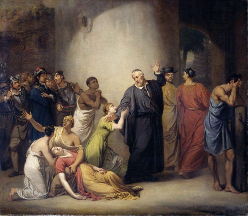 The self-sacrifice of Pastor Hambroeck on Formosa
