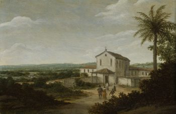 Church Building in Brazil. 1675 - 1680 | Frans Jansz. Post | oil painting