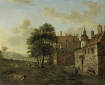 A country house. 1660 - 1712 | Jan van der Heyden | oil painting