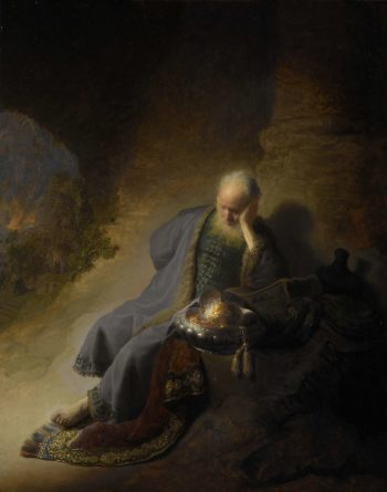 Jeremiah Lamenting the Destruction of Jerusalem. 1630 | Rembrandt Harmensz. van Rijn | oil painting