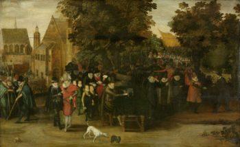 Satirical show on Dutch politics circa 1619. ca. 1619 - ca. 1620 | Adriaen Pietersz. van de Venne | oil painting