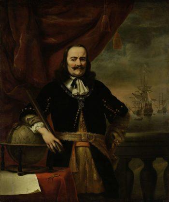 Michiel de Ruyter as Lieutenant-Admiral. 1667 | Ferdinand Bol | oil painting