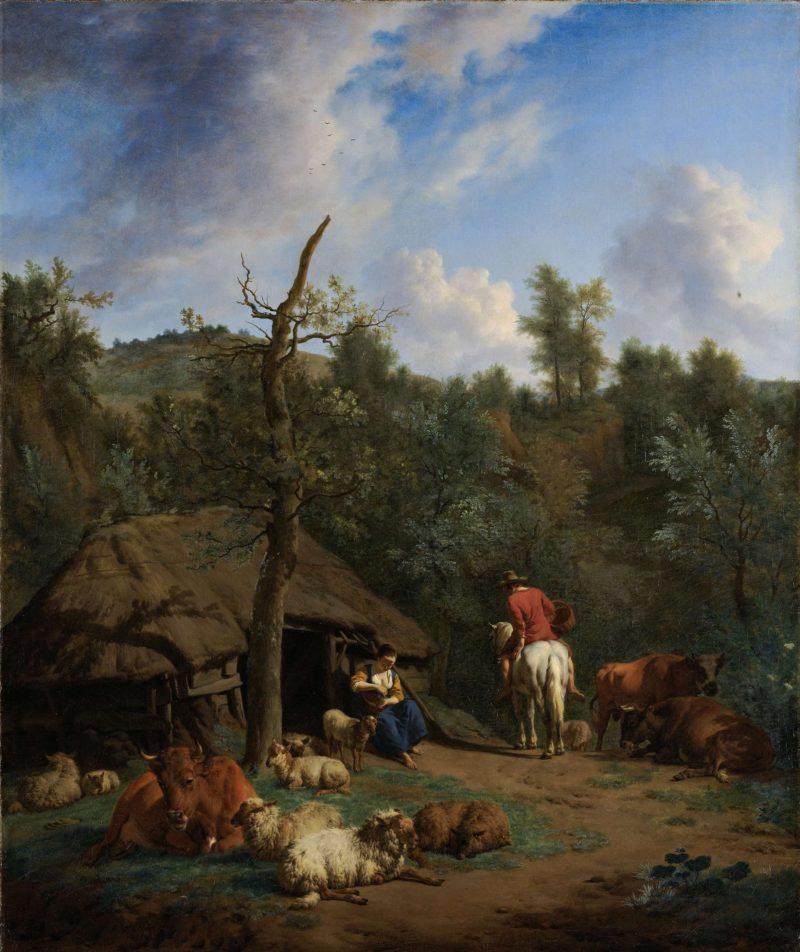 The Hut. 1671   Adriaen van de Velde   oil painting