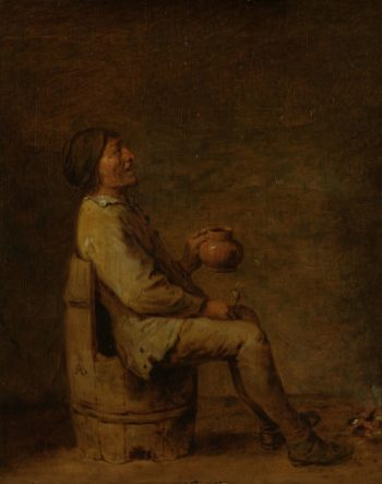 The Drinker. 1620 - 1700   Adriaen Brouwer   oil painting