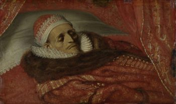 Stadtholder Prince Maurice Lying in State. ca. 1625 | Adriaen Pietersz. van de Venne | oil painting