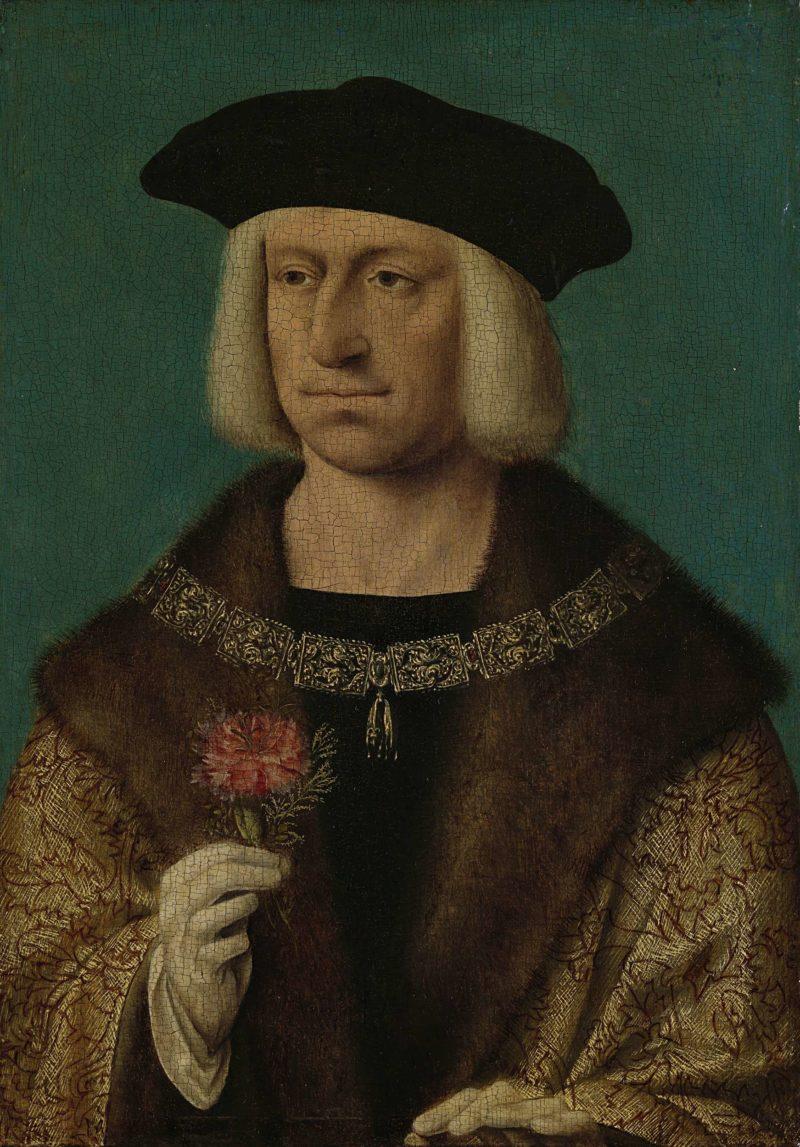 Portrait of Maximilian I (1459-1519). ca. 1500   Joos van Cleve   oil painting