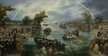 Fishing for Souls. 1614 | Adriaen Pietersz. van de Venne | oil painting