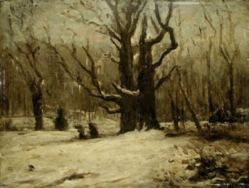 Winter Landscape. 1850 - 1877 | Gustave Courbet | oil painting