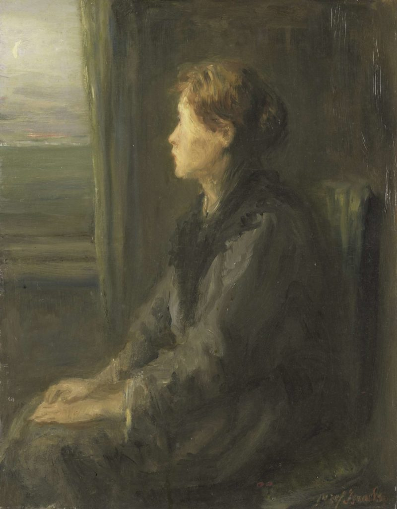 Woman at a window. 1880 - 1911 | Jozef Isra?ls | oil painting