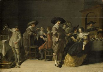 Name companionship in a room. after 1630   Anthonie Palamedesz.   oil painting