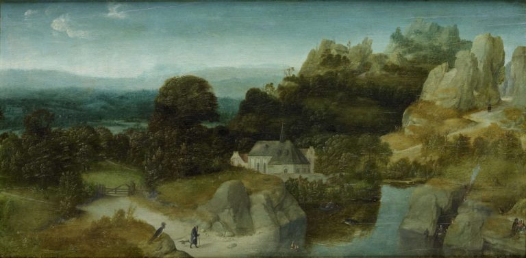 Landscape with the Temptation of Saint Anthony the Hermit. ca. 1510 - ca. 1520 | Joachim Patinir | oil painting