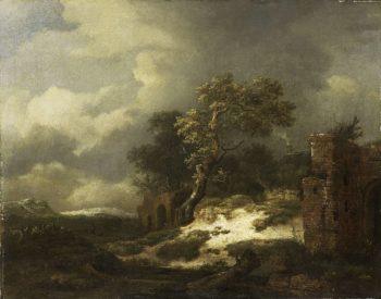 Landscape with Ruins. 1650 - 1682 | Jacob Isaacksz. van Ruisdael | oil painting