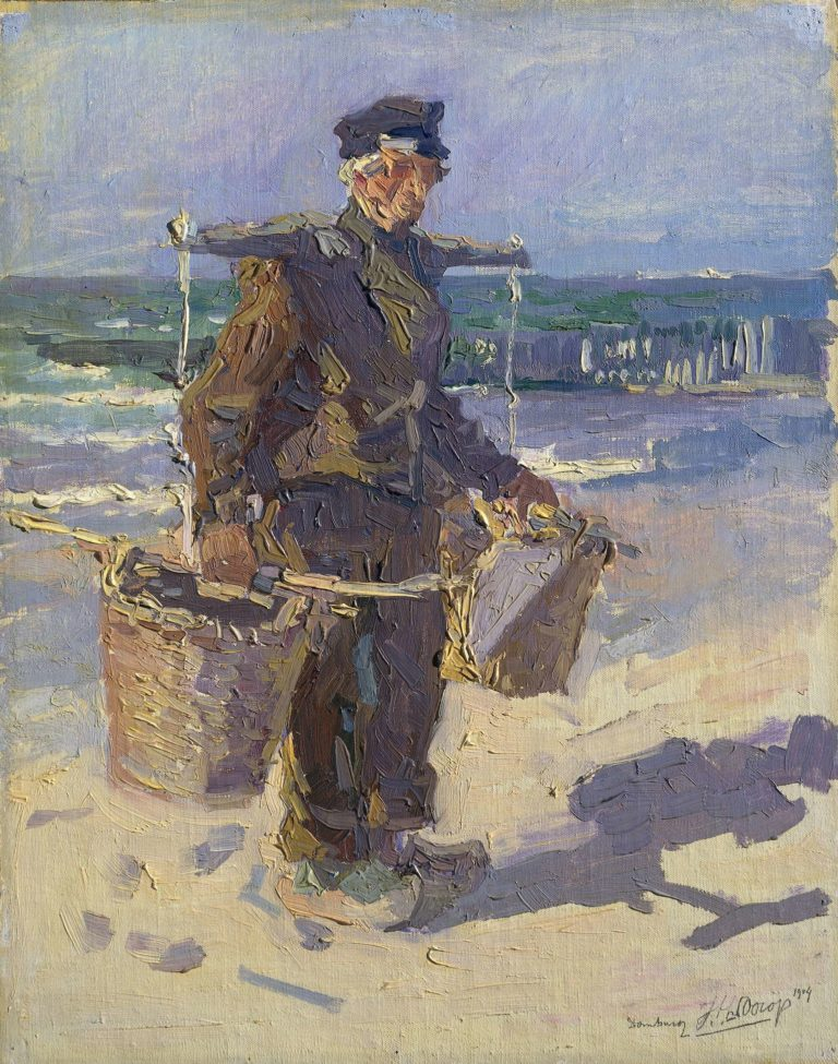 The shells fisherman. 1904 | Jan Toorop | oil painting