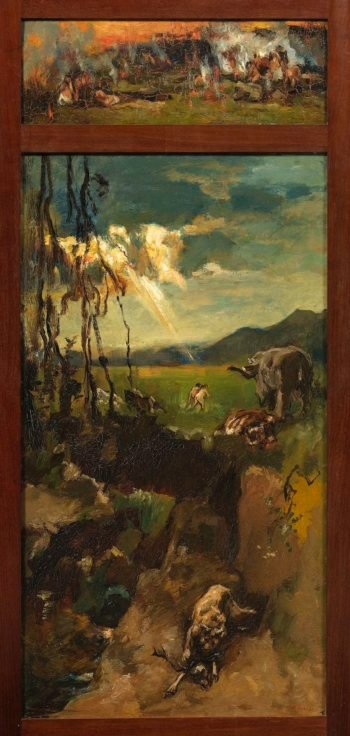 The destruction of Sodom and Gomorrah. 1900 - 1931 | Willem de Zwart | oil painting