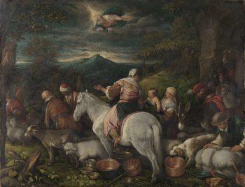 Abraham leaves Haran. 1560 - 1592   Francesco Bassano (il Giovane)   oil painting