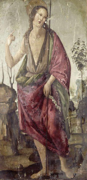 John the Baptist.. 1470 - 1497 | Francesco Botticini | oil painting