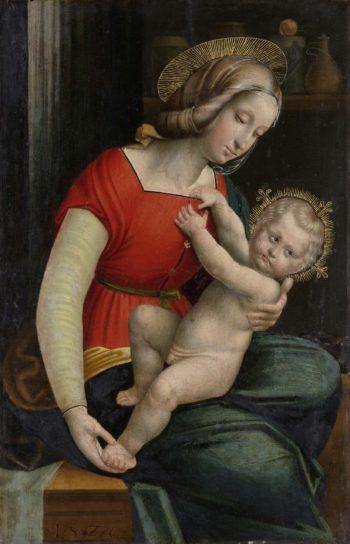 Virgin and Child. 1526   Defendente Ferrari   oil painting
