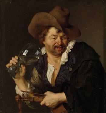 The Merry Fiddler. 1660 - 1680 | Ary de Vois | oil painting
